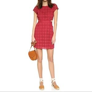 Madewell Eyelet Happening Cut Out Dress Size 0